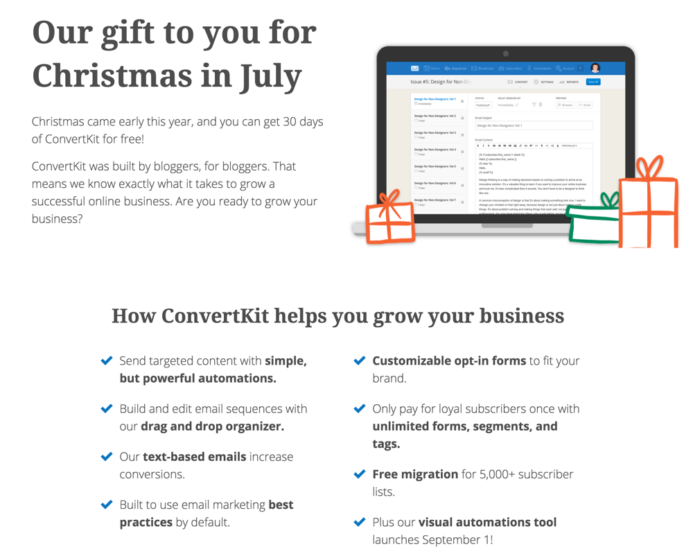 Free Trial Account Of ConvertKit