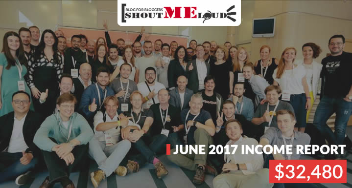 ShoutMeLoud June 2017 Income & Traffic Report