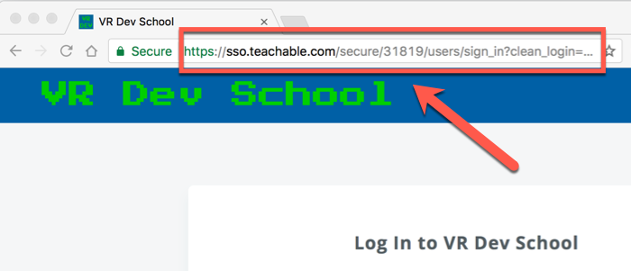 Teachable domain URL