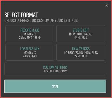 Ringr - Audio Formats