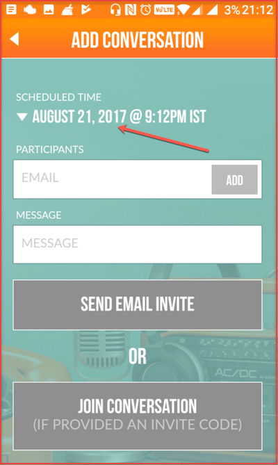 Ringr - Invitation Screen