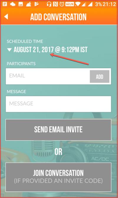Ringr- Invitation Screen