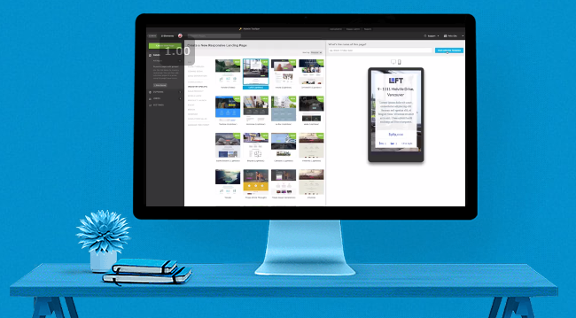 Mobile responsive feature of Unbounce