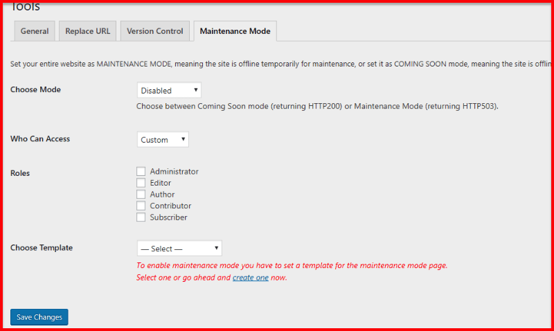 Activate Maintenance Mode via Elementor