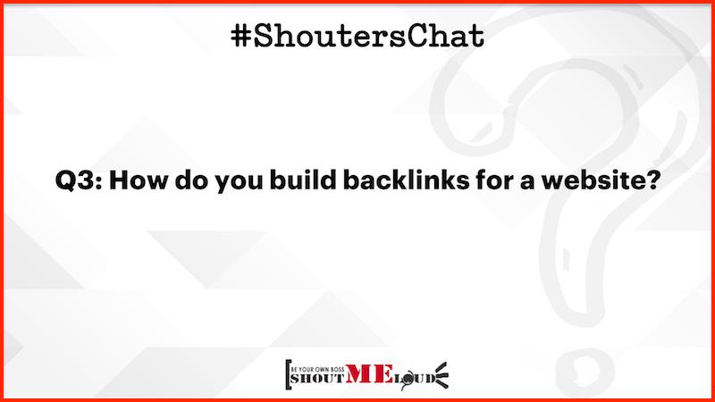Build backlinks for a website