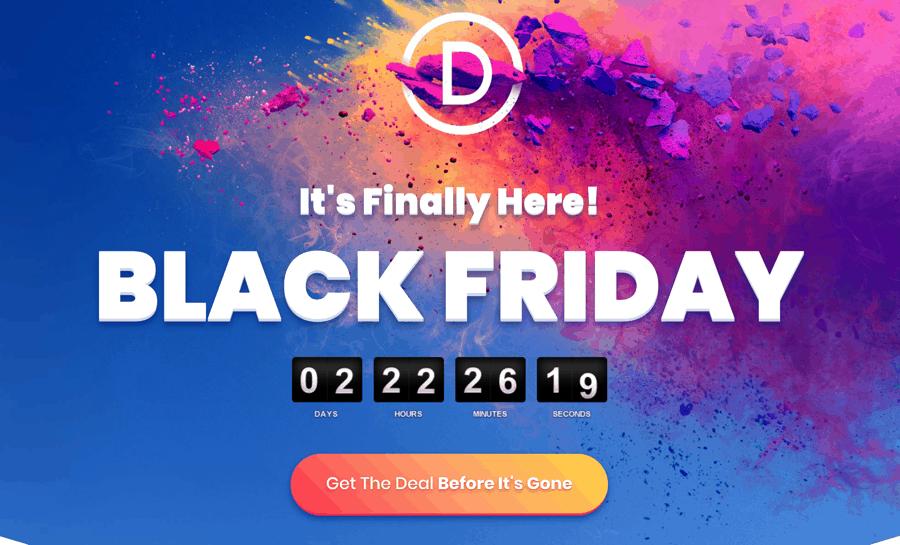 ElegantThemes Black Friday Cyber Monday Sale:  25% off
