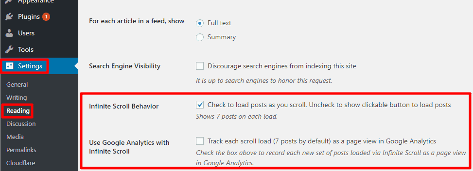 Configure jetpack google analytics settings