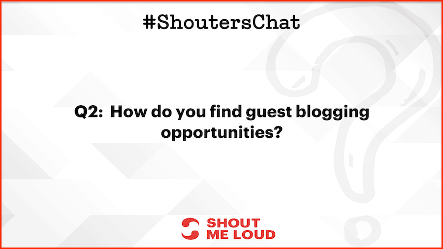 How do you find guest blogging opportunities