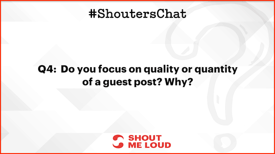 Do you focus on quality or quantity of a guest post