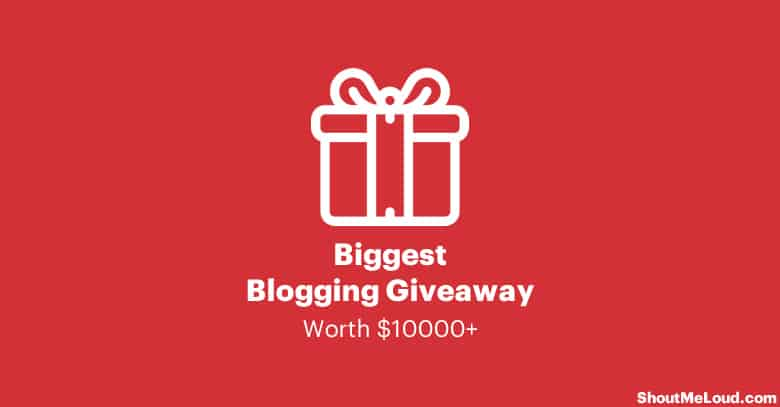Biggest Blogging Giveaway