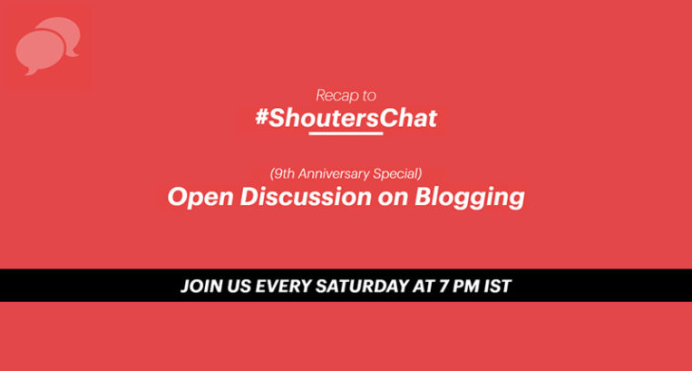 Open Discussion on Blogging + Giveaway winners – A #ShoutersChat Recap