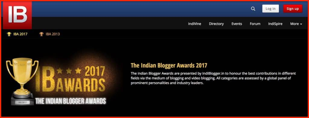 The-Indian-blogger-award-2017
