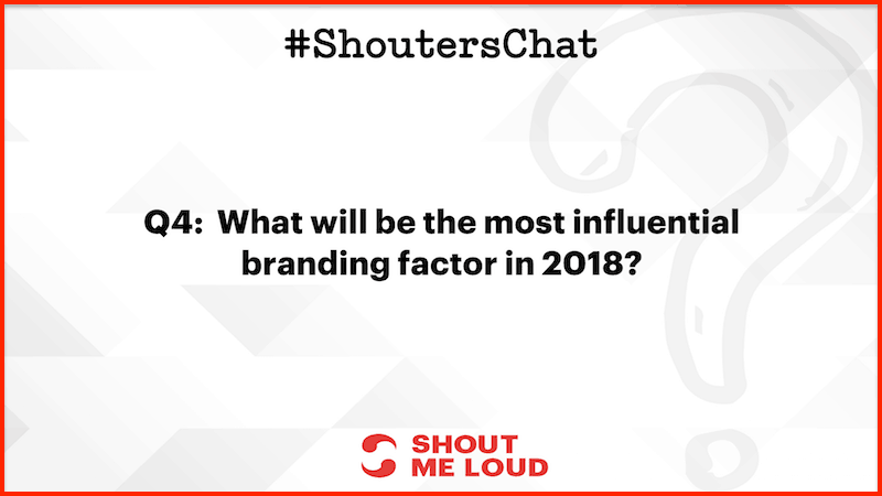 Most influential branding factor in 2018
