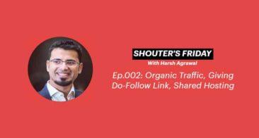 Shouter's Friday Podcast, Ep.002: Organic Traffic, Do-Follow Links, Shared Hosting