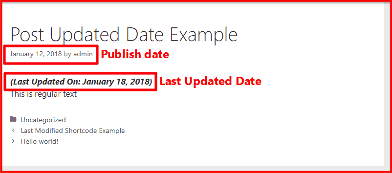 how to show last modified date on blog post instead of published date in  wordpress  shoutmeloud