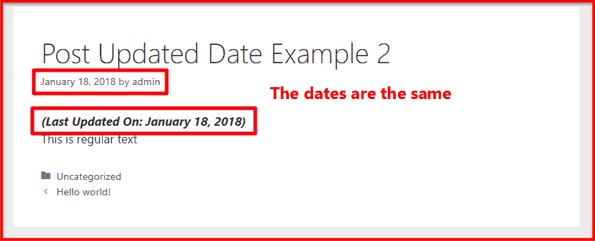 Post updated date example