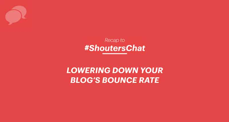 Lowering down blog's bounce rate