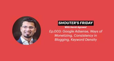 Shouter's Friday Podcast, Ep.003: AdSense, Keyword Density, Monetizing, Consistency in Blogging
