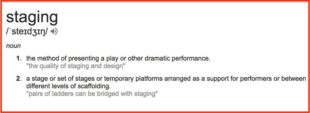 Staging-meaning