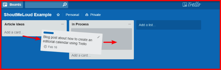 Trello Work Flow