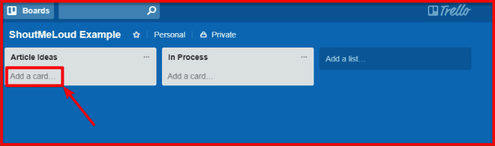 Trello - Create cards