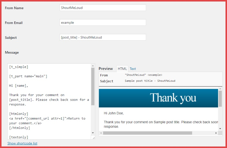 Thank Me Later WordPress Plugin