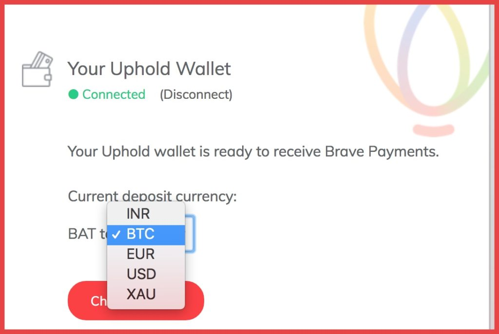 Uphold wallet