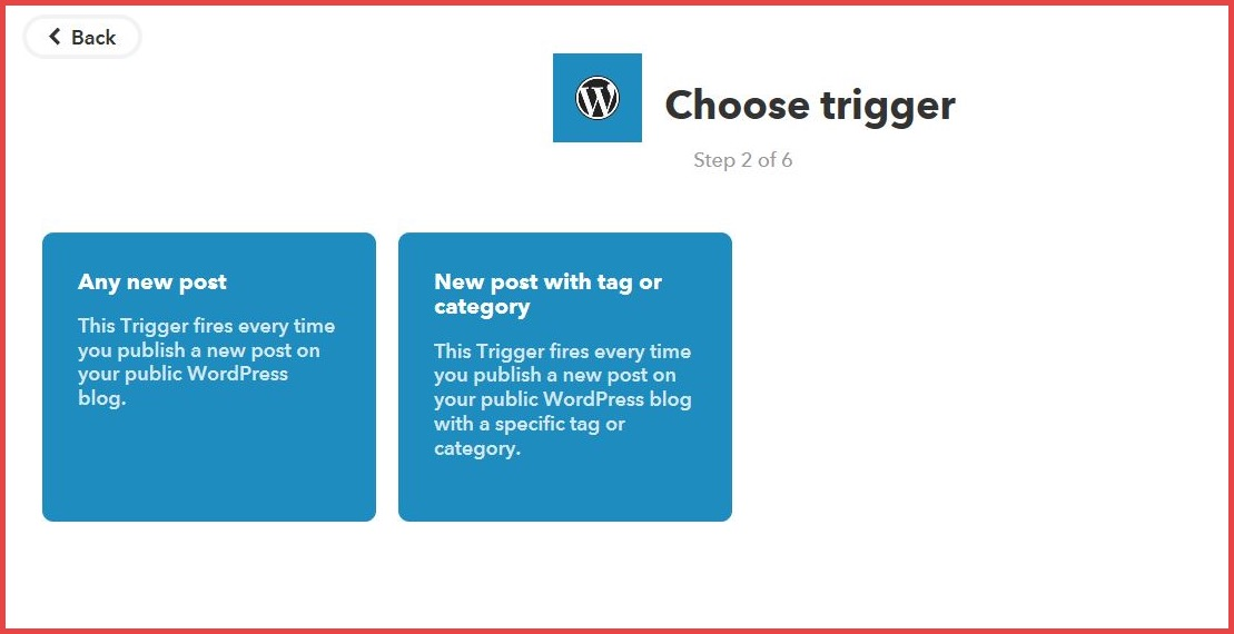 Choose Trigger for Applets