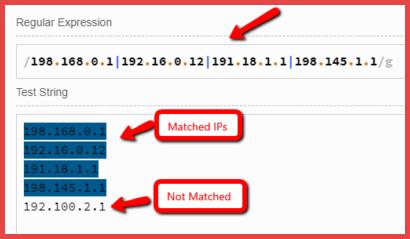 Google Analytics IP Filter Verify Syntax