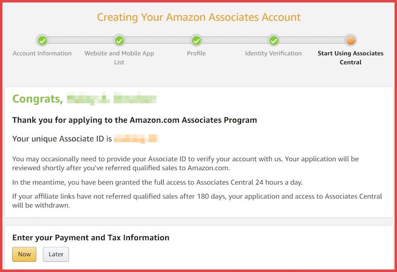amazon-associates-success-message