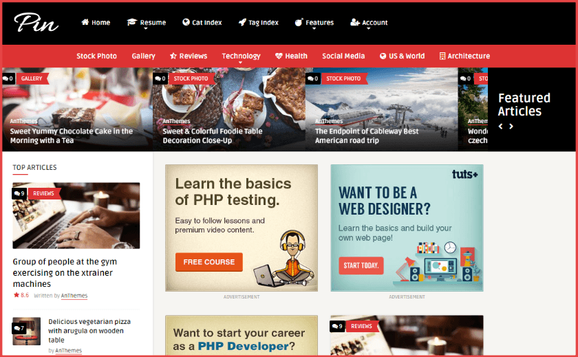 Pin - Pinterest styled WordPress theme
