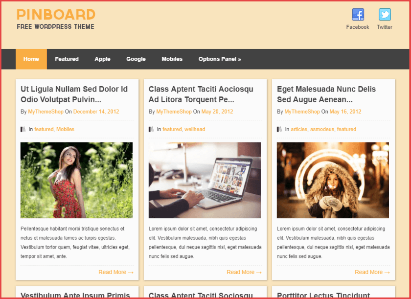 Pinboard Pinterest WordPress theme