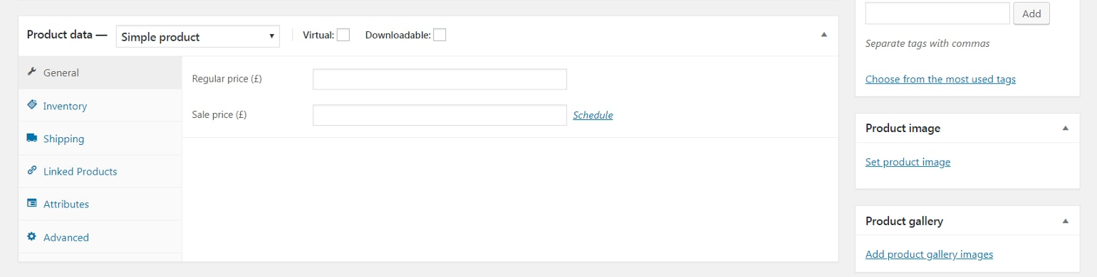 How to add product data in WooCommerce