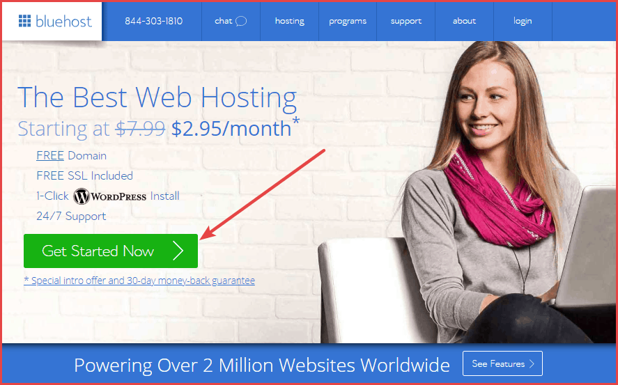 sign up for bluehost