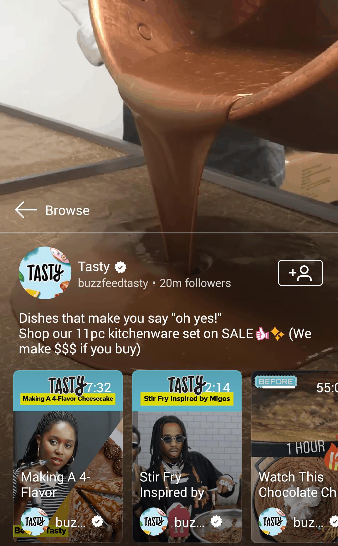 Tasty IGTV