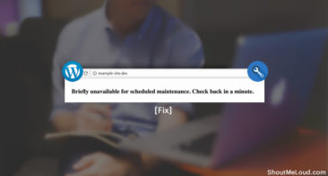 [WordPress Fix] 'Briefly unavailable for scheduled maintenance. Check back in a minute'