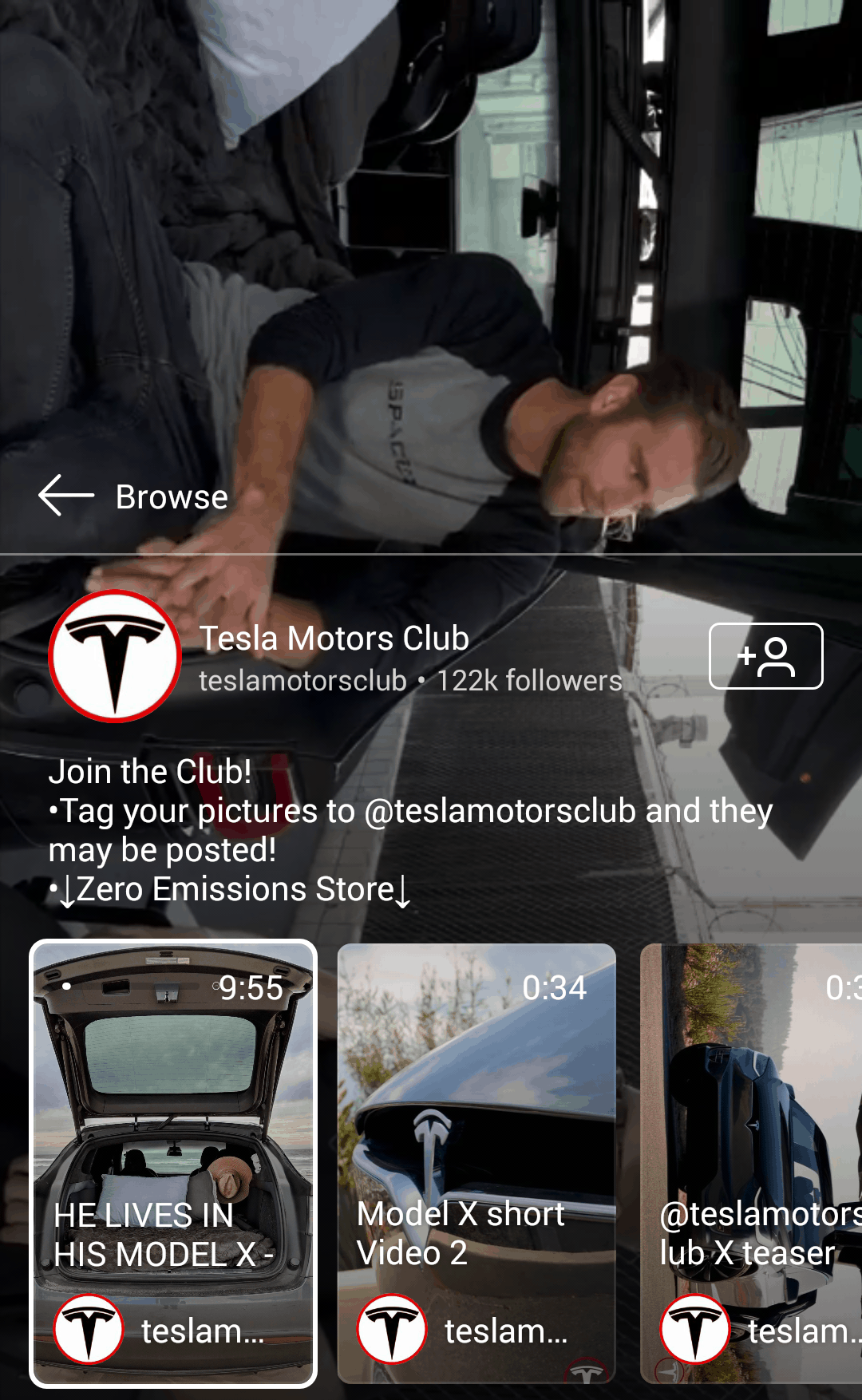 Tesla Motors Club IGTV