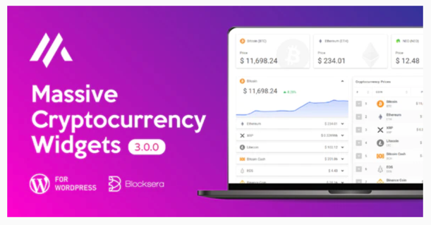 cryptocurrency price ticker wordpress