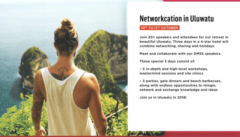 Networkcation in Ulluwatu