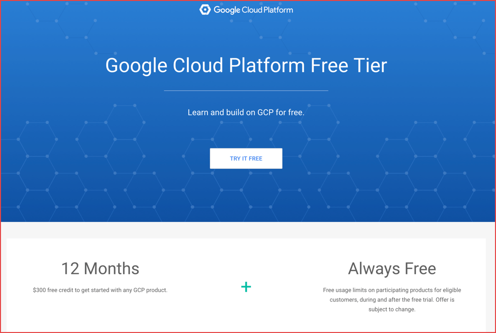 Google-cloud-platform-free-tier