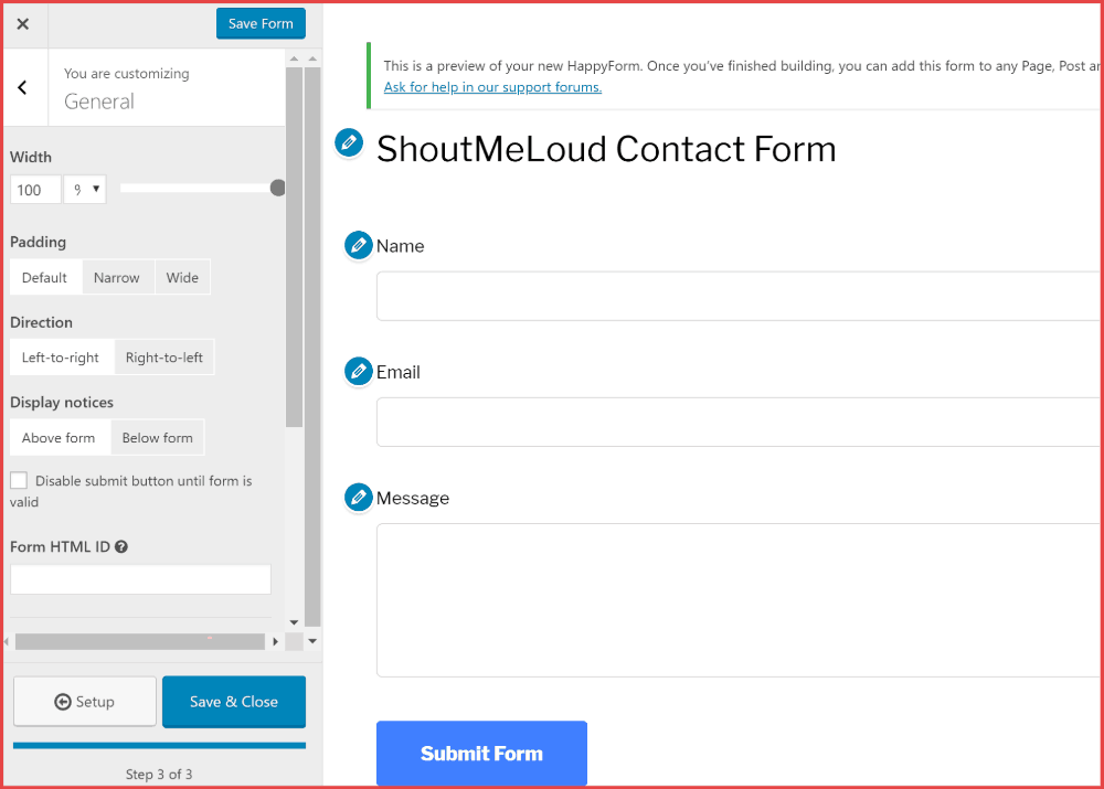 Happy Forms WordPress contact form plugins