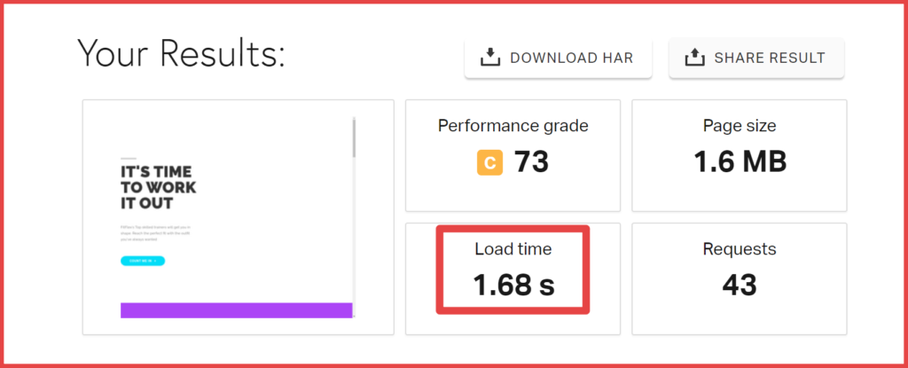ICDSoft Hosting Performance test