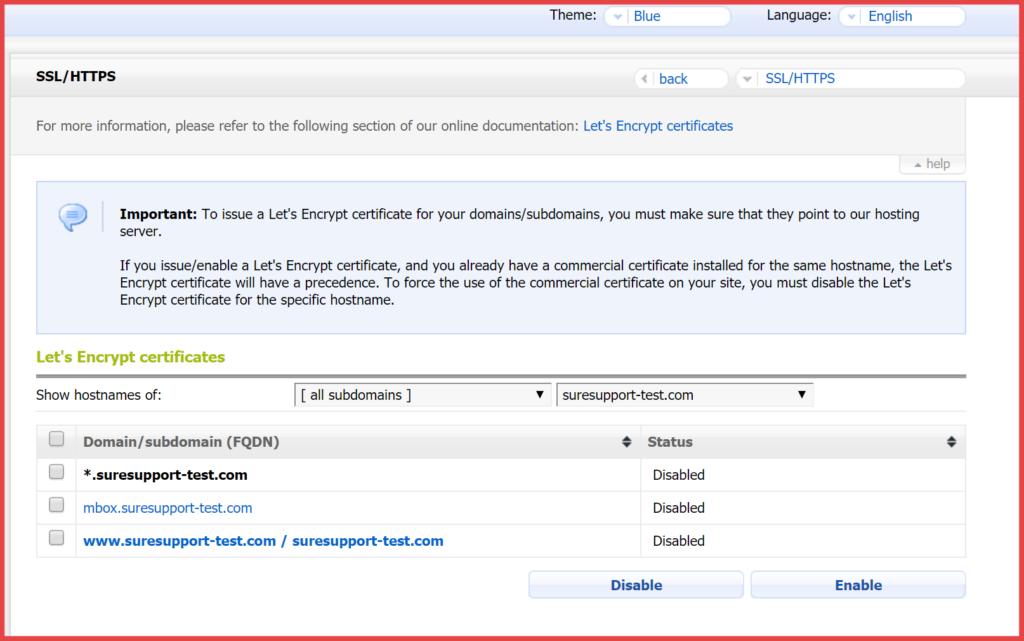 Enable HTTPS on ICDSoft