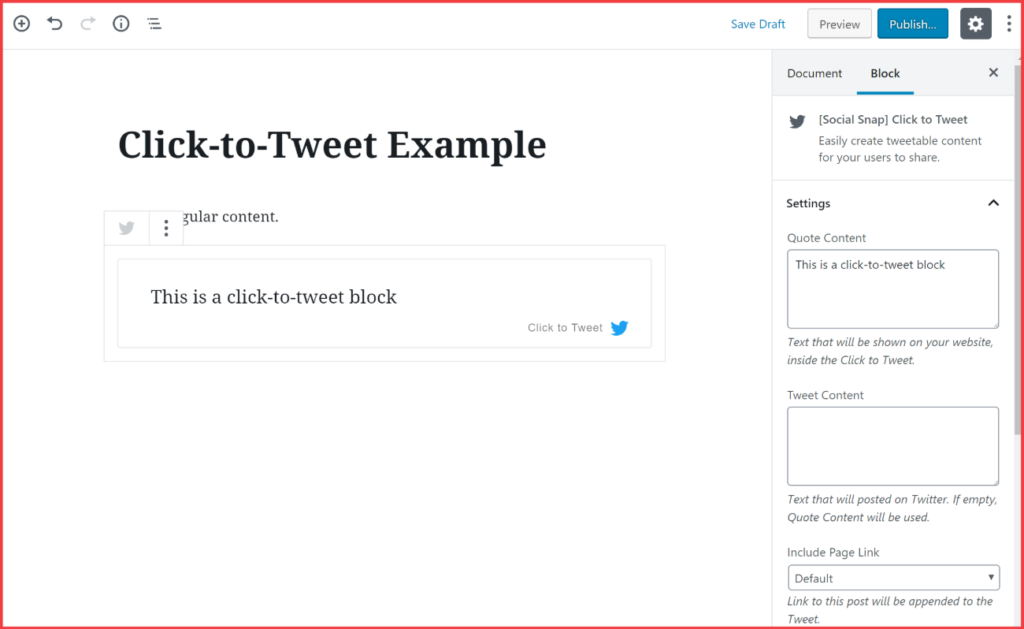 click to tweet example