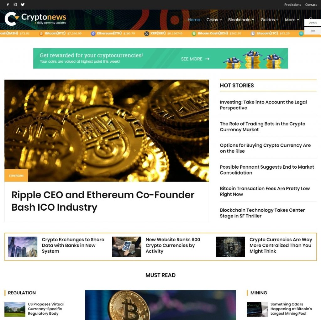 Cryptonews theme
