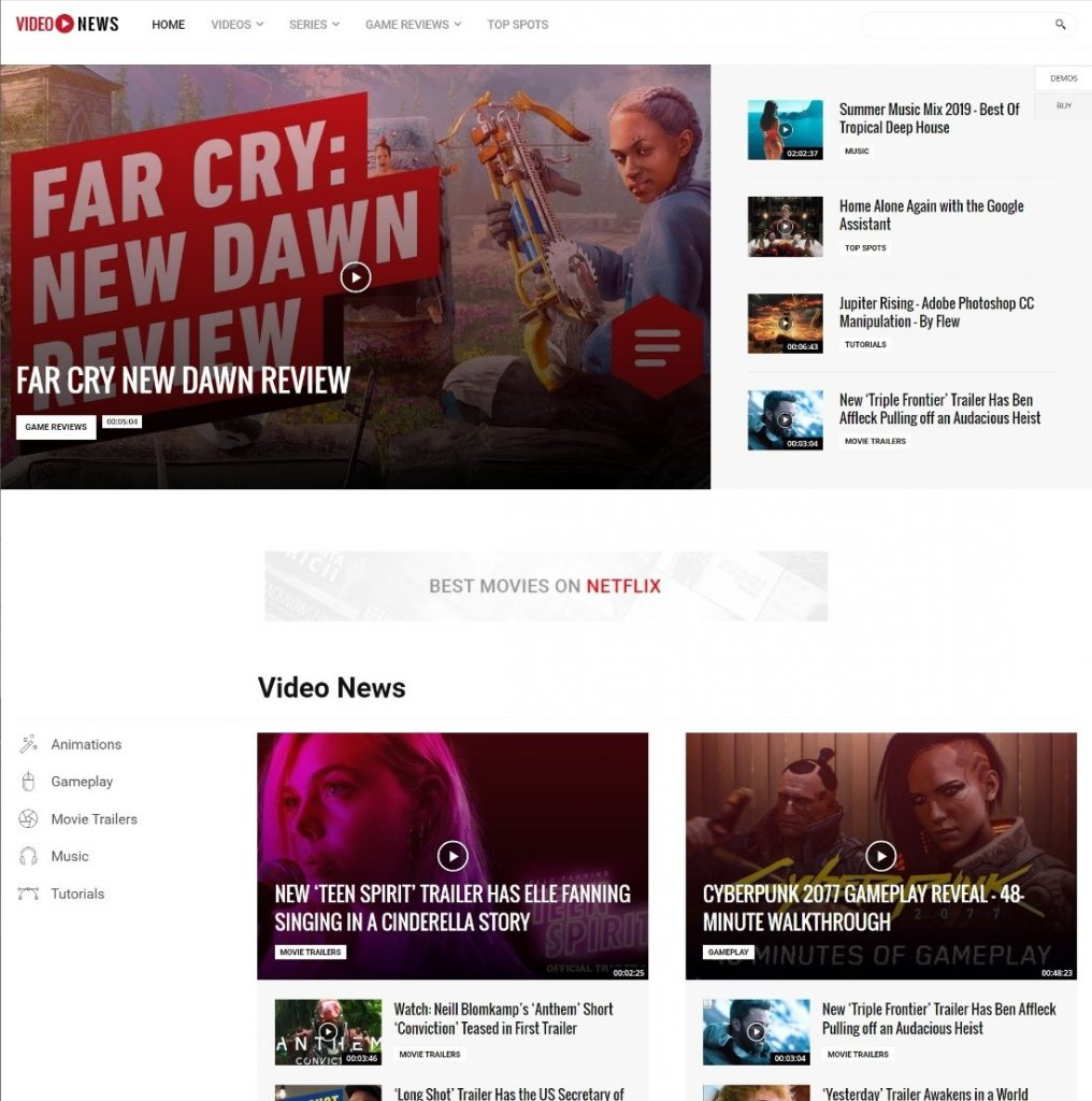 videonews tamplate demo Newspaper