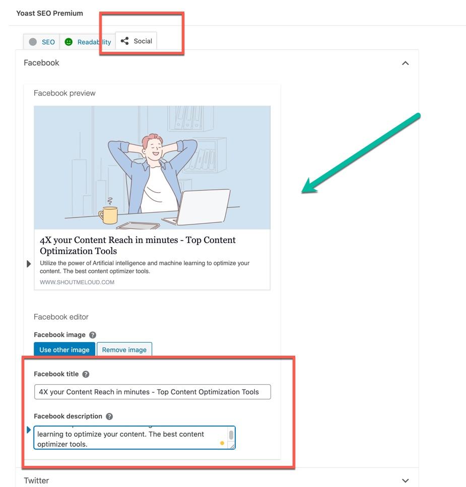 Content optimization social media