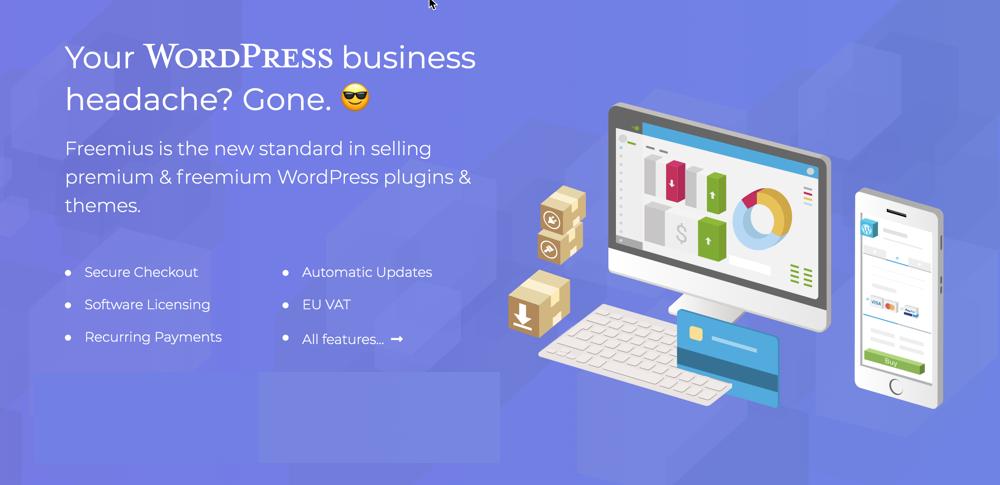 Freemius sell WordPress plugins