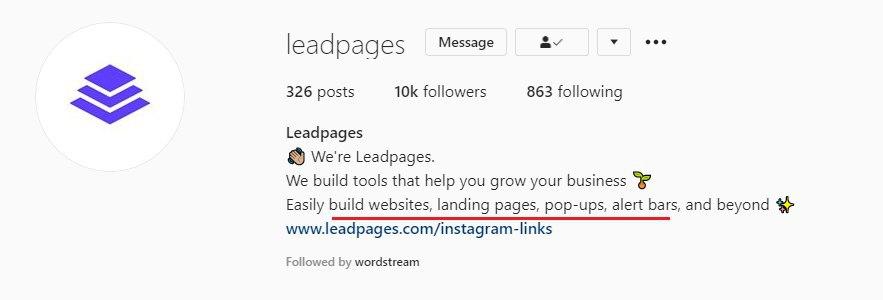 Keywords-instagram-bio