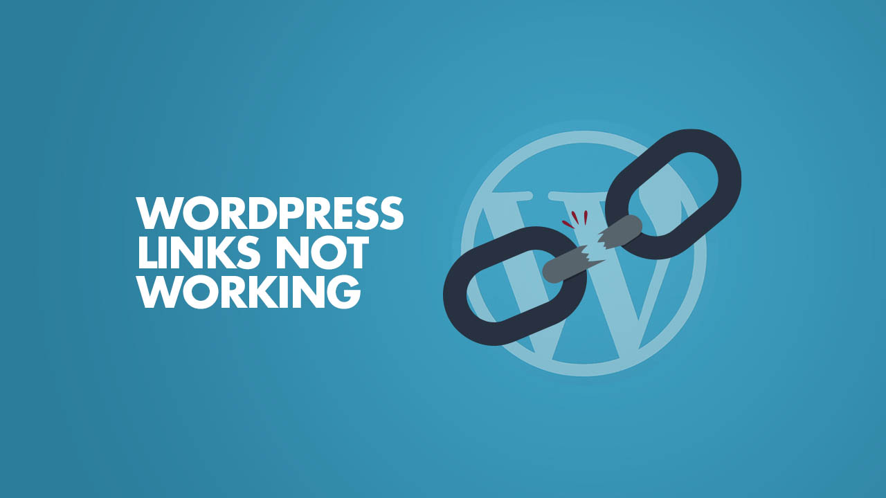 WordPress Links Not Working